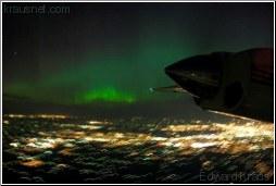 aurora borealis from the air